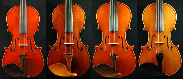 ヴァイオリンのニスの色の違い