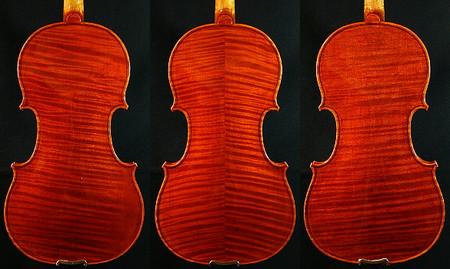 ヴァイオリンの裏板の杢の違い