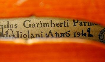 モダンイタリアヴァイオリン Garimberti のラベル