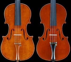 ヴァイオリンの肩の形状の違い