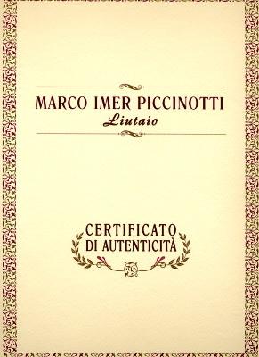 イタリア新作ヴァイオリン製作証明書