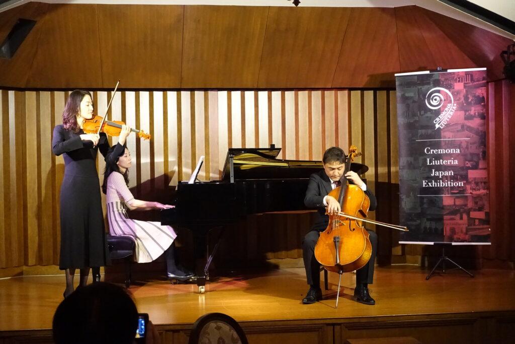 バイオリン:枝並千花 ピアノ:山口ちなみ チェロ:古川展生